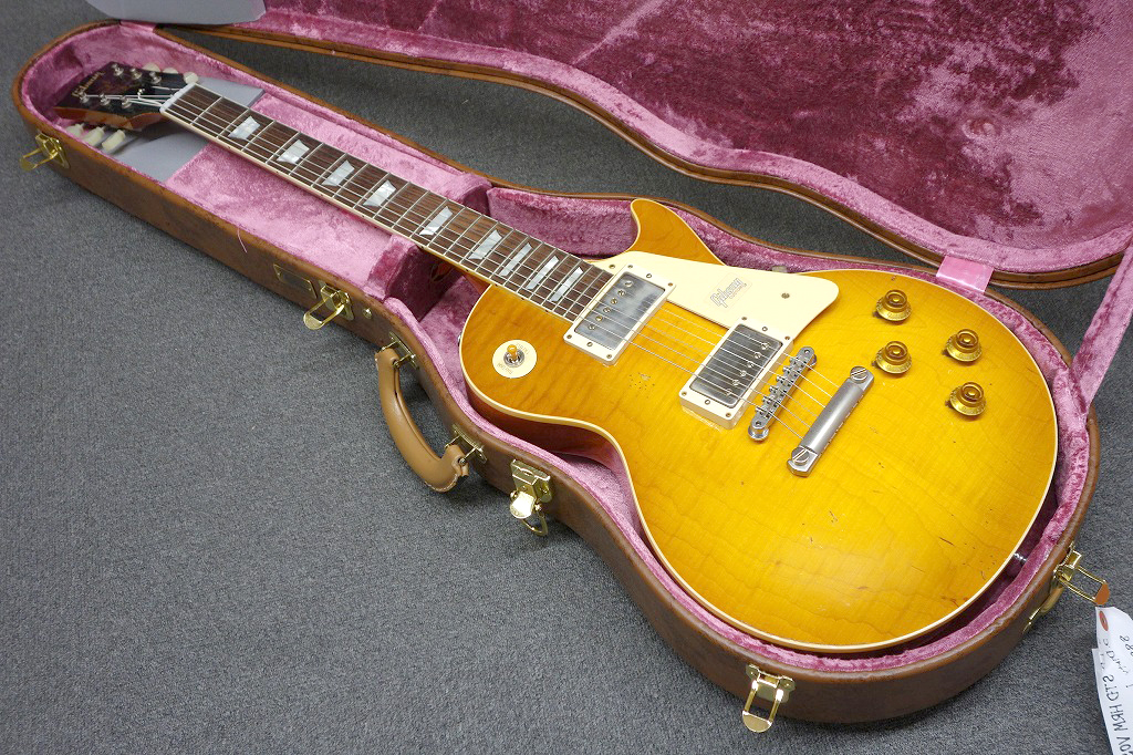 Gibson Custom Shop 1958 Les Paul Hard Rock Maple VOS Dirty Lemon Heavy Aged